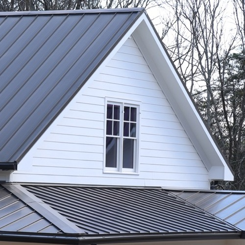 House With Standing Seam Metal Roof