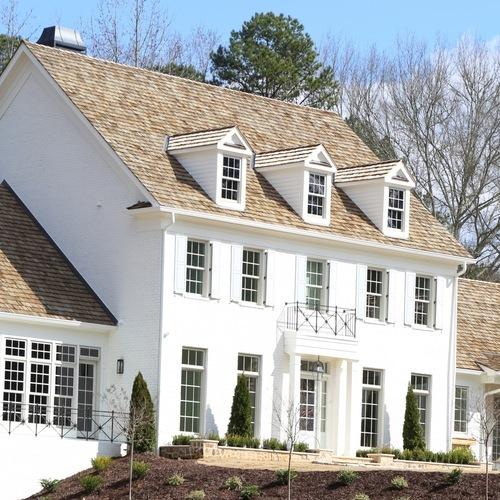 House with a wood shingle roof.